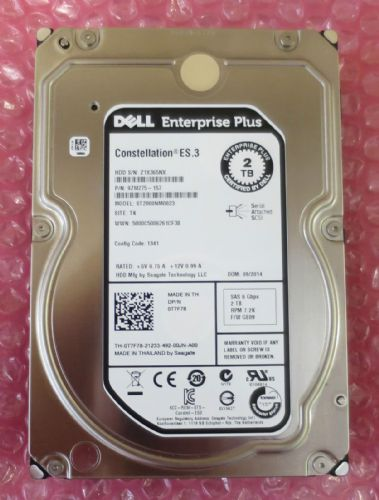 NEW Dell EqualLogic 2TB SAS 6GBps 7.2K Hard drive HDD T7F78 for PS6000 PS6100 ++